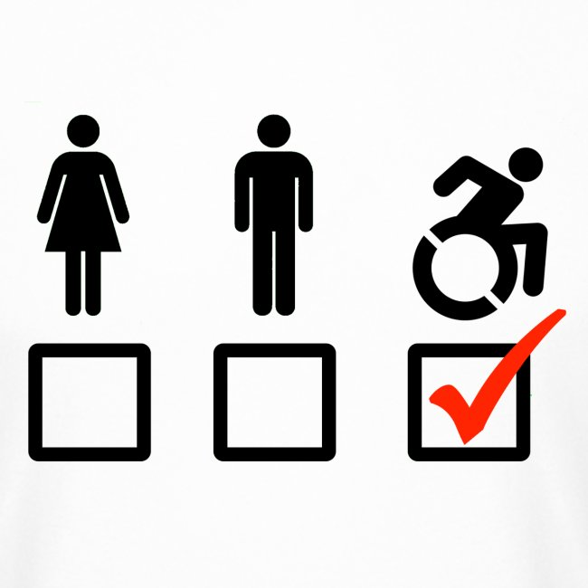 A wheelchair user is also suitable