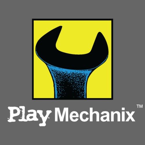 Play Mechanix Logo_ WHT - Computer Backpack