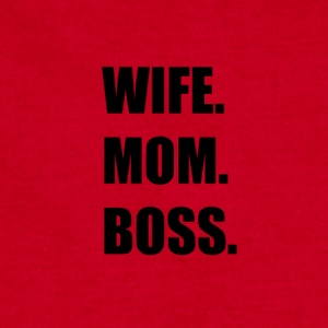 wife mom boss - Sweatshirt Cinch Bag