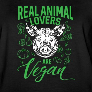 Real Animal Lovers Are Vegan - Women's Vintage Sport T-Shirt