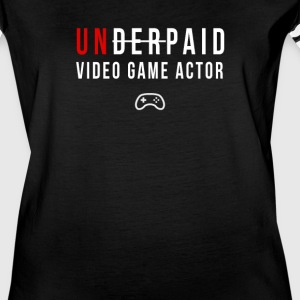 Underpaid video game actor T-shirt - Women's Vintage Sport T-Shirt