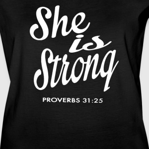 She is Strong Proverbs - Women's Vintage Sport T-Shirt