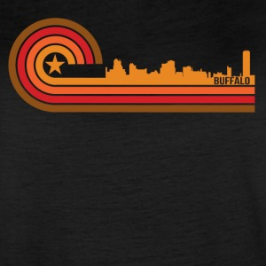 Retro Style Buffalo New York Skyline - Women's Vintage Sport T-Shirt