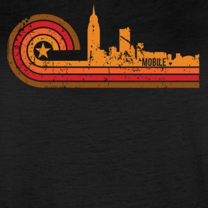 Retro Style Mobile Alabama Skyline Distressed - Women's Vintage Sport T-Shirt