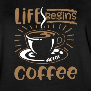 Life Begins after Coffee - Women's Vintage Sport T-Shirt