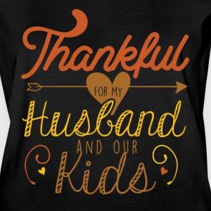 Thankful for my Husband and our kids - Women's Vintage Sport T-Shirt