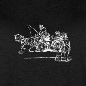 The Cranky Carriage - Reverse Image - Women's Vintage Sport T-Shirt