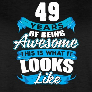 49 Years Of Being Awesome Looks Like - Women's Vintage Sport T-Shirt