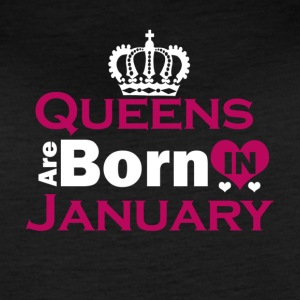 Queens are Born in January - Women's Vintage Sport T-Shirt