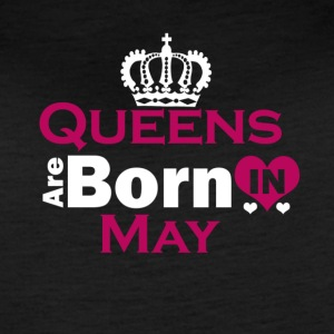 Queens are Born in May - Women's Vintage Sport T-Shirt