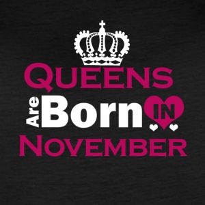 Queens are Born in November - Women's Vintage Sport T-Shirt