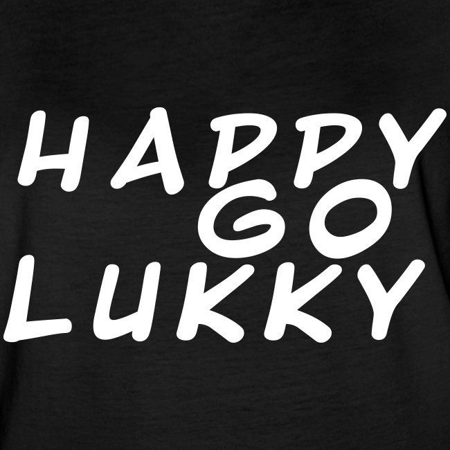 HappyGoLukky Lettering White