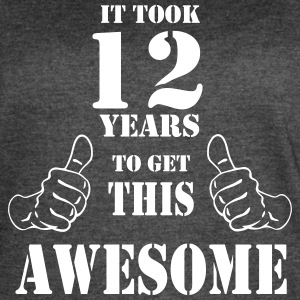 12th Birthday Get Awesome T Shirt Made in 2005 - Women's Vintage Sport T-Shirt