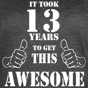 13th Birthday Get Awesome T Shirt Made in 2004 - Women's Vintage Sport T-Shirt