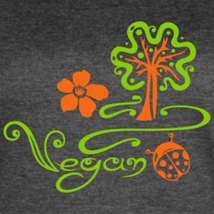 Healthy and vegan cooking, tree, ladybug - Women's Vintage Sport T-Shirt