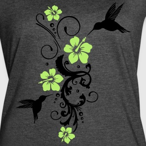 Hummingbird, colibri with hibiscus - Women's Vintage Sport T-Shirt
