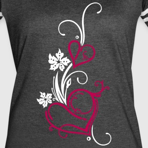 Two hearts with flowers - Women's Vintage Sport T-Shirt