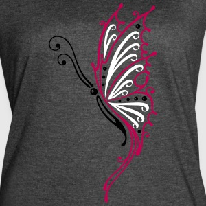 Big filigree butterfly, wings, Tribal Tattoo - Women's Vintage Sport T-Shirt