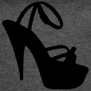 Vector high heels shoes Silhouette - Women's Vintage Sport T-Shirt