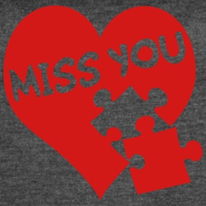 miss you / love - Women's Vintage Sport T-Shirt