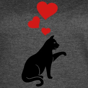 cat with hearts - Women's Vintage Sport T-Shirt