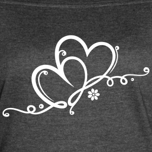Two hearts with ornament and infinity - Women's Vintage Sport T-Shirt