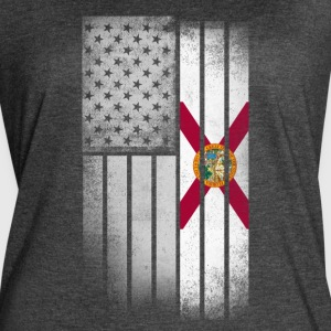 Florida Flag Shirt - Florida American Flag Fusion - Women's Vintage Sport T-Shirt