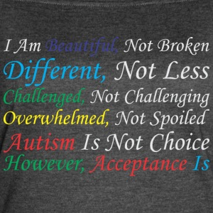 Im Beautiful Different Challenge Autism Acceptance - Women's Vintage Sport T-Shirt