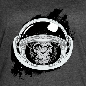 Space monkey Black and white Art - Women's Vintage Sport T-Shirt