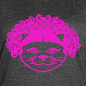 Kitty Afro - Women's Vintage Sport T-Shirt