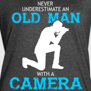 Old Man With A Camera T Shirt - Women's Vintage Sport T-Shirt