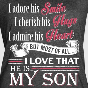 He Is My Son T Shirt - Women's Vintage Sport T-Shirt