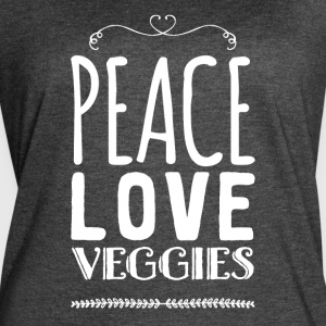 Peace love veggies - Women's Vintage Sport T-Shirt