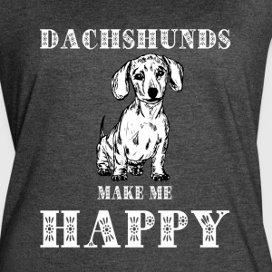 Dachshund Make Me Happy T Shirt - Women's Vintage Sport T-Shirt