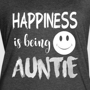 Happiness Is Being Auntie T Shirt - Women's Vintage Sport T-Shirt