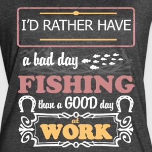 Fishing Than A Good Day At Work T Shirt - Women's Vintage Sport T-Shirt