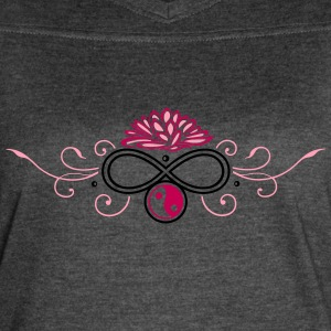 Lotus with infinity and Yin & Yang - Women's Vintage Sport T-Shirt