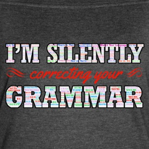 I'm silently correcting your Grammar - Women's Vintage Sport T-Shirt