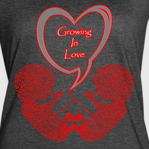 Mommy to Be Twins Growing in Love! - Women's Vintage Sport T-Shirt