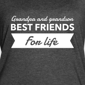 Grandpa and grandson best friends for life - Women's Vintage Sport T-Shirt