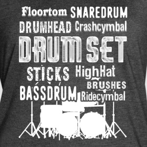 DRUM SET WORD CLOUD SHIRT - Women's Vintage Sport T-Shirt
