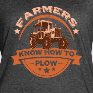 FARMERS KNOW HOW TO PLOW FUNNY FARMING SHIRT - Women's Vintage Sport T-Shirt