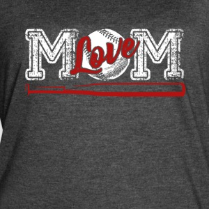 Love Baseball Mom Shirt - Women's Vintage Sport T-Shirt