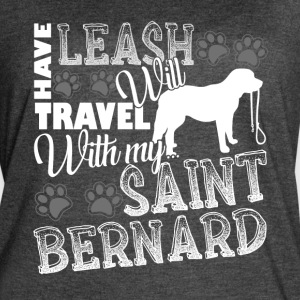 SAINT BERNARD TRAVEL LEASH SHIRT - Women's Vintage Sport T-Shirt