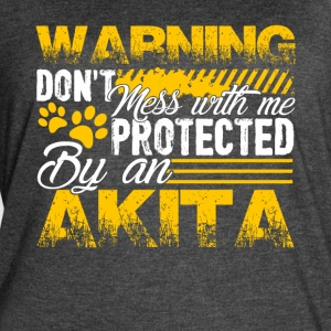 PROTECTED BY AKITA DOG SHIRT - Women's Vintage Sport T-Shirt