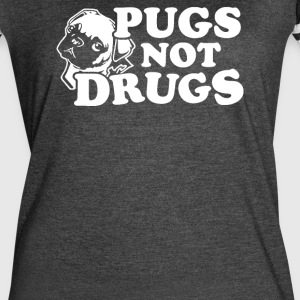 Pugs Not Drugs - Women's Vintage Sport T-Shirt