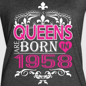 Queens Are Born In 1958 Happy Mothers Day - Women's Vintage Sport T-Shirt