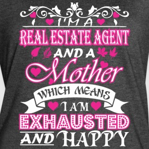 Real Estate Agent Mother Means Exhausted & Happy - Women's Vintage Sport T-Shirt