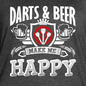 DARTS AND BEER SHIRT - Women's Vintage Sport T-Shirt