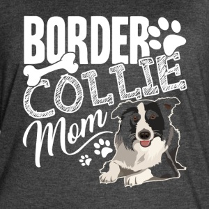BORDER COLLIE MOM HEARTS SHIRT - Women's Vintage Sport T-Shirt
